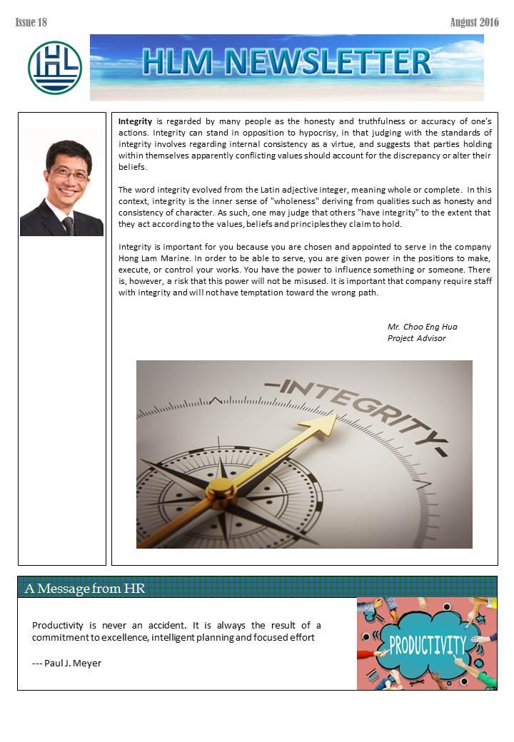 HLM Newsletter – Issue 18